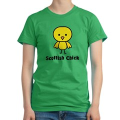 Scottish Chick Women's Fitted T-Shirt (dark)