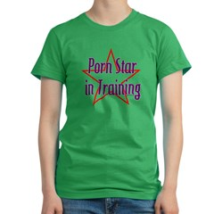 Porn Star in Training Women's Fitted T-Shirt (dark)
