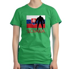 Slovak Hockey Women's Fitted T-Shirt (dark)