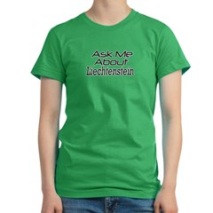 Ask about Liechtenstein Women's Fitted T-Shirt (dark)