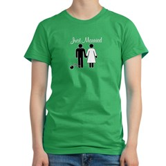 Just Married Women's Fitted T-Shirt (dark)