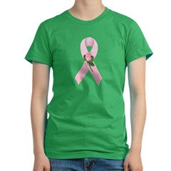 Breast Cancer Ribbon 2 Women's Fitted T-Shirt (dark)