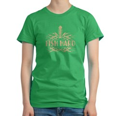 Fish Hard Women's Fitted T-Shirt (dark)