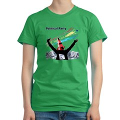 Political Party Women's Fitted T-Shirt (dark)