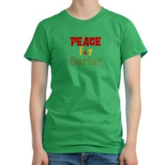 Peace For Darfur 1.1 Women's Fitted T-Shirt (dark)