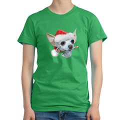Chihuahua Christmas Women's Fitted T-Shirt (dark)