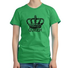 Queen Crown Women's Fitted T-Shirt (dark)