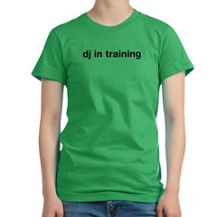 DJ In Training Women's Fitted T-Shirt (dark)