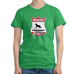 Shepherd On Guard Women's Fitted T-Shirt (dark)