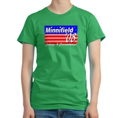 Minnifield in '08 Women's Fitted T-Shirt (dark)