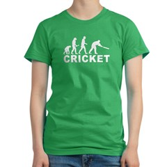 Cricket Evolution Women's Fitted T-Shirt (dark)