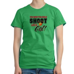 Basketball - Shoot Like a Girl Women's Fitted T-Shirt (dark)