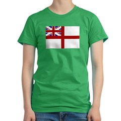 royal navy flag oblong.jpg Women's Fitted T-Shirt (dark)