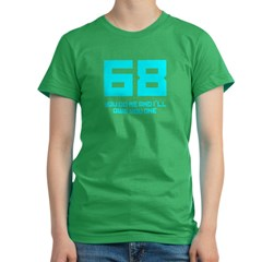 Let's 68! Women's Fitted T-Shirt (dark)
