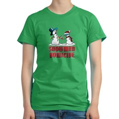 Snowman Homicide Women's Fitted T-Shirt (dark)