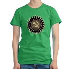 Hammer &amp; Sickle Women's Fitted T-Shirt (dark)