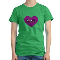 Karla Women's Fitted T-Shirt (dark)