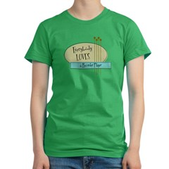 Everybody Loves a Recorder Player Women's Fitted T-Shirt (dark)