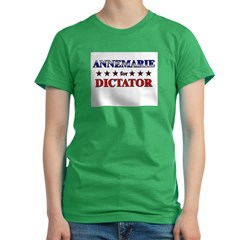 ANNEMARIE for dictator Women's Fitted T-Shirt (dark)