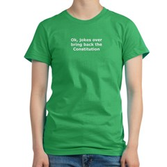 Bring back the constitution Women's Fitted T-Shirt (dark)