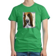 Basset Hound 3 Women's Fitted T-Shirt (dark)