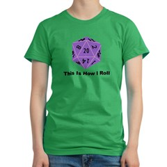 How I Roll Women's Fitted T-Shirt (dark)
