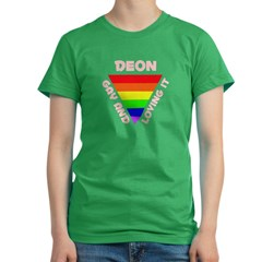 Deon Gay Pride (#007) Women's Fitted T-Shirt (dark)