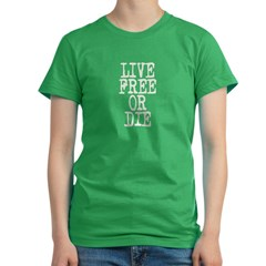 Live Free or Die Women's Fitted T-Shirt (dark)