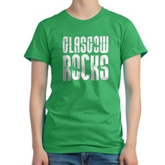 Glasgow Rocks Women's Fitted T-Shirt (dark)
