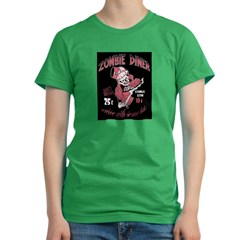 zombie diner Women's Fitted T-Shirt (dark)