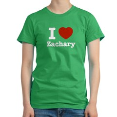I love Zachary Women's Fitted T-Shirt (dark)