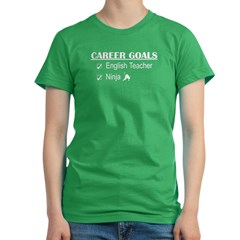 English Teacher Career Goals Women's Fitted T-Shirt (dark)