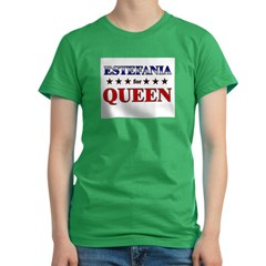 ESTEFANIA for queen Women's Fitted T-Shirt (dark)