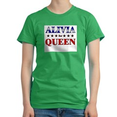 ALIVIA for queen Women's Fitted T-Shirt (dark)