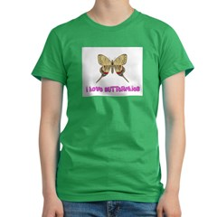 I Love Butterflies Women's Fitted T-Shirt (dark)