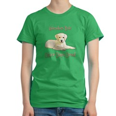 Yellow Labradors Rule Other Dogs Drool Women's Fitted T-Shirt (dark)