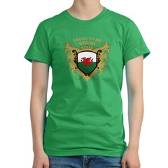 Proud to be Welsh Women's Fitted T-Shirt (dark)