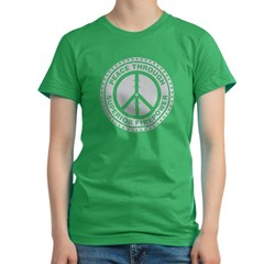 Peace Through Superior Firepo Women's Fitted T-Shirt (dark)