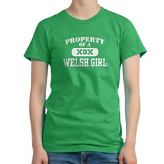 Property of an Welsh Girl Women's Fitted T-Shirt (dark)