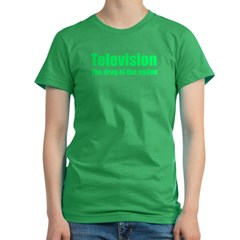 Television; Drug of the Nation! Women's Fitted T-Shirt (dark)