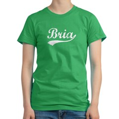 Vintage Bria (Silver) Women's Fitted T-Shirt (dark)