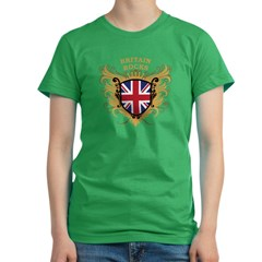 Britain Rocks Women's Fitted T-Shirt (dark)