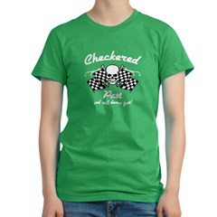 Checkered Pas Women's Fitted T-Shirt (dark)