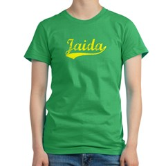Vintage Jaida (Gold) Women's Fitted T-Shirt (dark)