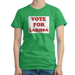 Vote for LARISSA Women's Fitted T-Shirt (dark)