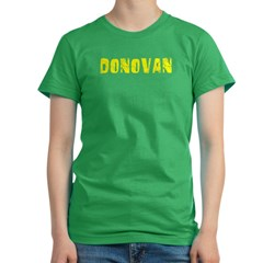 Donovan Faded (Gold) Women's Fitted T-Shirt (dark)