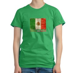 Vintage Cinco De Mayo with Flag Women's Fitted T-Shirt (dark)