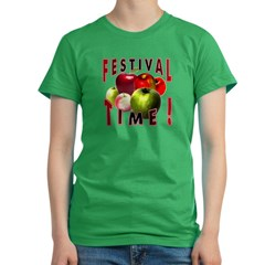 Apple Festival Time ! Women's Fitted T-Shirt (dark)