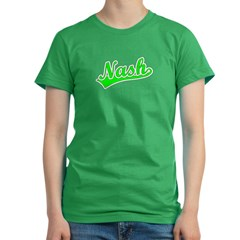 Retro Nash (Green) Women's Fitted T-Shirt (dark)