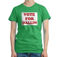 Vote for DALLIN Women's Fitted T-Shirt (dark)